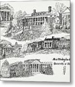 Mary Washington College Metal Print