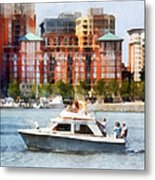 Maryland - Cabin Cruiser By Baltimore Skyline Metal Print