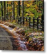 Maryland Country Roads - An Early Kiss Of Winter Metal Print