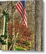 Maryland Country Roads - Flying The Colors 1a Metal Print by Michael Mazaika