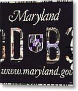 Maryland License Plate Metal Print