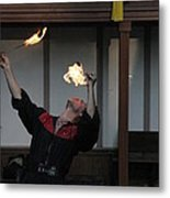 Maryland Renaissance Festival - Johnny Fox Sword Swallower - 1212105 Metal Print by DC Photographer