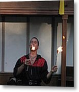 Maryland Renaissance Festival - Johnny Fox Sword Swallower - 121296 Metal Print by DC Photographer