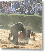 Maryland Renaissance Festival - Jousting And Sword Fighting - 1212102 Metal Print