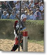 Maryland Renaissance Festival - Jousting And Sword Fighting - 1212119 Metal Print by DC Photographer