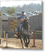 Maryland Renaissance Festival - Jousting And Sword Fighting - 1212160 Metal Print