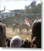 Maryland Renaissance Festival - Jousting And Sword Fighting - 1212203 Metal Print by DC Photographer