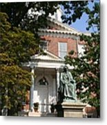 Maryland State House And Statue Metal Print