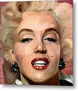 Marylin Monroe Metal Print by James Shepherd