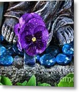 Marys Feet Metal Print
