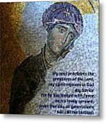 Mary's Magnificat Metal Print
