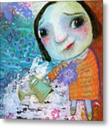 Mary's Quite Contrary Metal Print by Shirley Dawson
