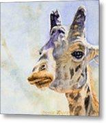 Masai Giraffe Metal Print