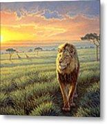 Masai Mara Sunset Metal Print