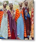 Masai Women Kenya Metal Print