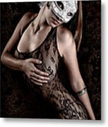 Mask And Lace Metal Print