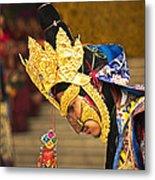 Masked Lama Performing Ritual Dance Metal Print