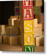 Mason - Alphabet Blocks Metal Print