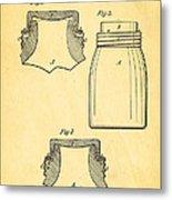 Mason Fruit Jar Patent Art 1870 Metal Print