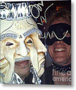 Masquerade Masked Frivolity Metal Print