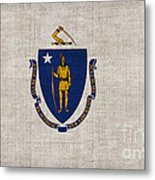 Massachusetts State Flag Metal Print by Pixel Chimp