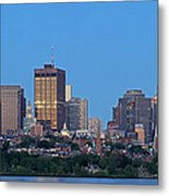 Massachusetts State House And Beacon Hill Metal Print