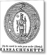 Massachusetts State Seal Metal Print