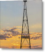Massey Windmill Silhouette Metal Print