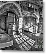 Master Bedroom At Fonthill Castlebw Metal Print