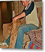 Master Potter At Work In Avanos-turkey Metal Print by Ruth Hager