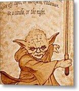 Master Yoda Wisdom Metal Print