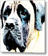 Mastif Dog Art - Misunderstood Metal Print by Sharon Cummings