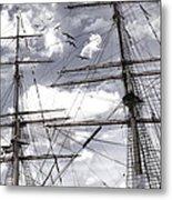 Masts Of Sailing Ships Metal Print