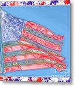 Matalic Flag Metal Print