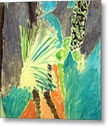Matisse's Palm Leaf In Tangier Metal Print