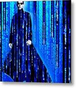 Matrix Neo Keanu Reeves 2 Metal Print