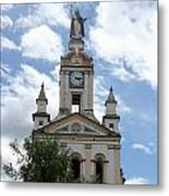 Matriz Cathedral In Cotacachi Metal Print
