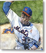 Matt Harvey Metal Print by Michael  Pattison