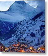 Matterhorn At Twilight Metal Print