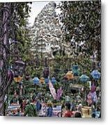 Matterhorn Mountain With Tea Cups At Disneyland Metal Print