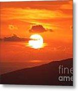 Maui Kulamalu Sunset 3 Metal Print