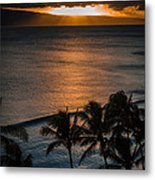 Maui Sunset 1 Metal Print