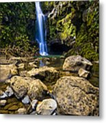 Maui Waterfall Metal Print by Adam Romanowicz