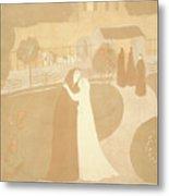 Maurice Denis French, 1870 - 1943. The Visitation La Metal Print