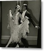Maurice Mouvet And Leonora Hughes Dancing Metal Print