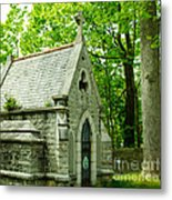 Mausoleum In Cemetery Metal Print