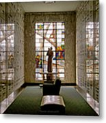 Mausoleum Stained Glass 04 Metal Print