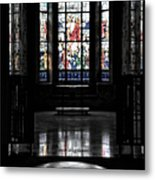 Mausoleum Stained Glass 05 Metal Print