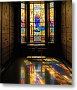 Mausoleum Stained Glass 06 Metal Print