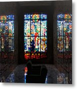 Mausoleum Stained Glass 07 Metal Print